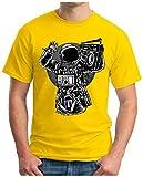 OM3 - ASTRONAUT-MUSIC - T-Shirt MOON SPACE GHETTOBLASTER POP ROCK PUNK HipHop FUN, S - 5XL