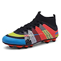 Football Boots Training/Competition Shoes Kids and Adults Outdoor Professional Soccer Boots(R-36)
