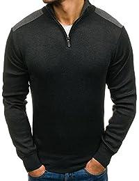 BOLF Herren Pullover V-Ausschnitt Melange Sweater Basic Pulli 5E5 MIX