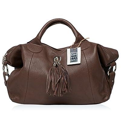 OH MY BAG Sac à Main en CUIR grainé femme porté main et bandoulière Modèle Chambord Nouvelle collection