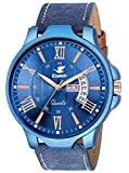 #9: Espoir Analogue Stylish Blue Dial Day and Date Men's Boy's Watch - Blue Ray 0507