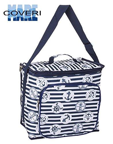 Enrico coveri borsa frigo termica, zaino per trasportare il vostro pranzo e la vostra merenda, capacità 18 litri, spessore 7mm vari colori (blu)
