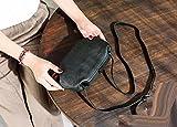 ZHANGJIA ranzen Tasche Echtes Leder Weibliche Titel Kreative Tasche Original Rindsleder Retro - Tasche Mode,schwärzlich grün