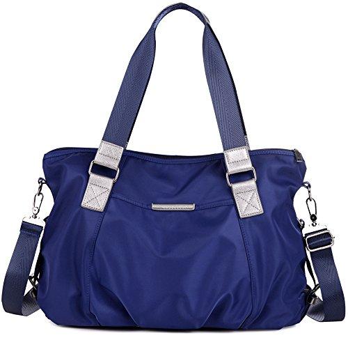 DCCN Damentasche wasserabweisend Nylon Handtasche Schultertasche mit Große Kapazität 42*30*13cm (Hobo Nylon Handtasche)