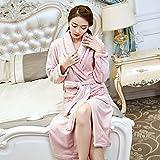 Camisón de franela hombres de las mujeres otoño y del invierno de terciopelo coral pijamas Batas engrosamiento Home Service Plus Tamaño Yukata. ( Tamaño : XL )
