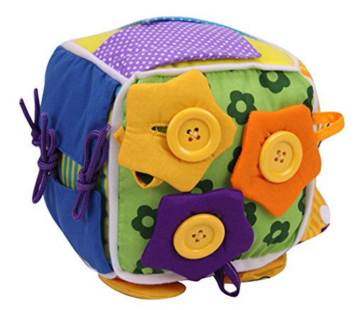 SKK Baby Activity Cube Toddler Early Learning Basic Life Skills Rattle Toy