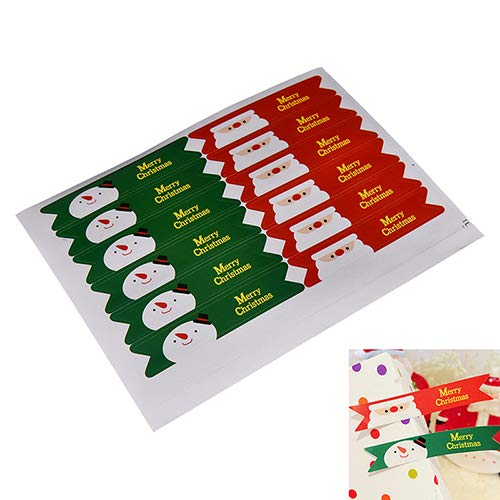 Stationery Stickers - 36 Pcs Set Merry Christmas Santa Claus Snowman Seal Sticker Labels Party Baking Package Paper Tags - Stationery Stickers Travel - Santo Seal