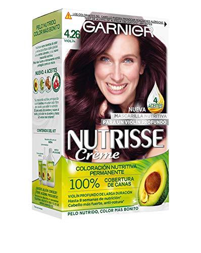 Garnier Nutrisse Creme coloración permanente con mascarilla nutritiva de cuatro aceites - Violín 4.26...