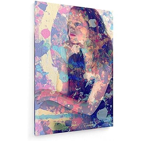 Teenager a colori - 50x75 cm - weewado - Belle stampe d'arte tela - arte della parete