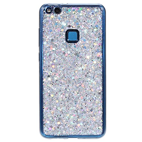Custodia-Huawei-P10-Lite-Cover-Huawei-P10-Lite-Silicone-Glitter-SainCat-Cover-per-Huawei-P10-Lite-Custodia-Silicone-Morbido-Glitter-Bling-Shock-Absorption-Ultra-Slim-Transparent-Silicone-Brillantini-C