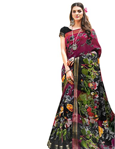 Krish Jute Silk Fancy Designer Sarees 6.30 meter with blouse-Multicolor