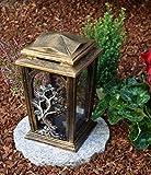 Garten Paradies Handmade Grablampe Grablicht Grabdekoration Grabschmuck Kerze incl.Grabkerze