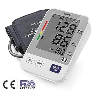 Handgelenk-Blutdruckmessgerät, hylogy Blutdruck hoher Genauigkeit LCD Monitor und Erkennung ARRITMIAS, großes Display und 2* 120Sticks