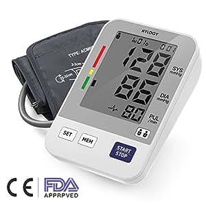 Misuratore di Pressione da Braccio, Hylogy Sfigmomanometro da Braccio Pressione Arteriosa Misurazione Automatic 2 * 120 Immagazzinamento Memoria