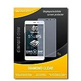 SWIDO 2 x Bildschirmschutzfolie Allview E4 Schutzfolie Folie DiamondClear unsichtbar