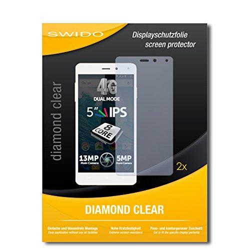 SWIDO 2 x Bildschirmschutzfolie Allview E4 Lite Schutzfolie Folie DiamondClear unsichtbar