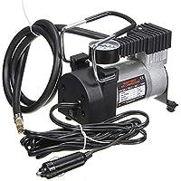 12V 14A Heavy Duty Volumen Luftkompressor Auto Reifen Inflator 300PSI, schwarz und Silber - schwarz