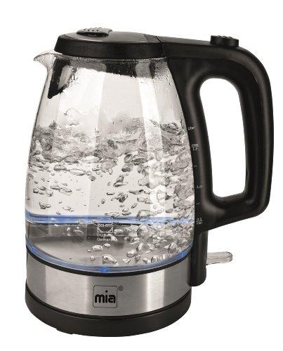 Wasserkocher Glas Glaswasserkocher kabellos Edelstahl Urteil GUT mit LED