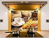 Klebefieber Spritzschutz Französisches Frühstück B x H: 80cm x 60cm