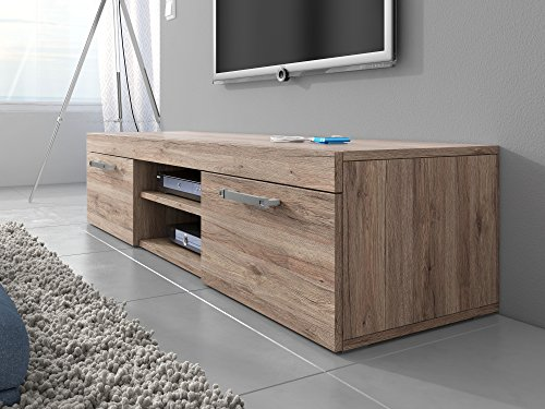 tv unit cabinet stand mambo light oak sonoma 160 cm search furniture. Black Bedroom Furniture Sets. Home Design Ideas