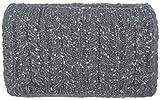 styleBREAKER Damen breites Multifunktion Strick Stirnband mit Zopfmuster, Fleece Futter, Tube Schal, Headband 04026030, Farbe:Grau