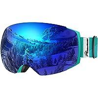 OutdoorMaster Skibrille Pro für Damen & Herren, Snowboardbrille mit magnetisch wechselsystem, helmkompatible Schneebrille mit OTG UV400 Schutz, Ski Goggles für Skifahren
