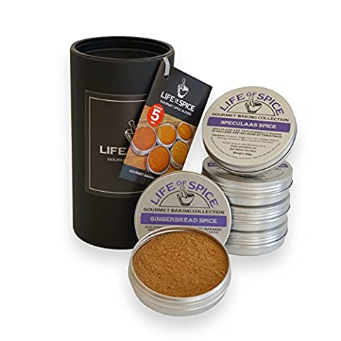 Collection d'épices pour les pâtisseries gastronomiques Life of Spice – Ensemble de 5 épices pour les pâtisseries Life of Spice (30g