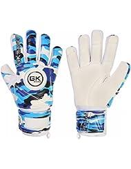 De portero de fútbol de portero GK Saver camuflaje azul guantes de portero corte negativo Kids Sm, color NO Finger Protection NO Personalization, tamaño 7