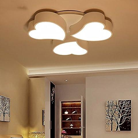LoveScc Ledthe créatif Chambre Enfants moderne et un mobilier minimaliste la lumière au plafond le Cœur chaud de la lampe salle des mariages plus de65CM48W gradateur 3 couleurs