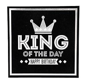 Depesche 8211.030Tarjeta de felicitación Glamour con Ornamento y Purpurina, cumpleaños