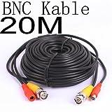 BW 20 Meter CCTV BNC Video und Stromkabel Verlängerungskabel 20M - Kabeltyp: 0.2mm², Kabel OD: 4.0mm