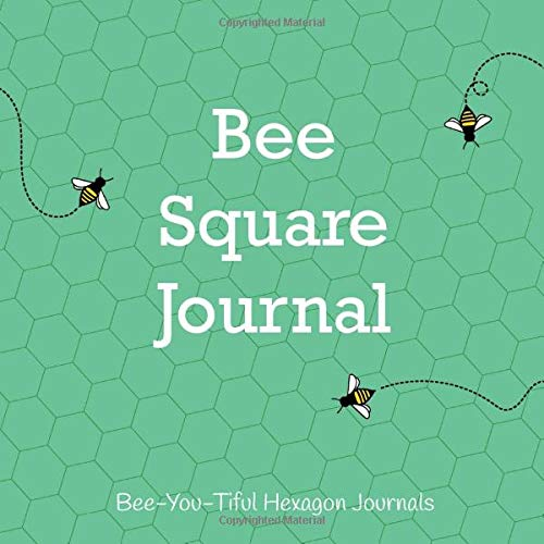 Bee Square Journal: Small and Large Graph Paper Drawing Book with Honey Bees and Green Cover (Hexagon Grid Sketchbooks, Band 5) -