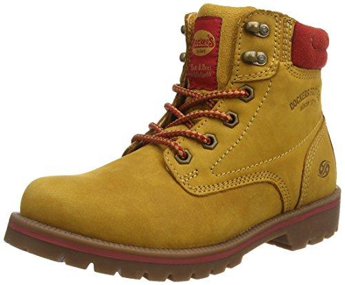 Dockers by Gerli 35AA202-400910, Damen Combat Boots, Gelb (Golden Tan 910), 41 EU (Stiefel Damen Tan)