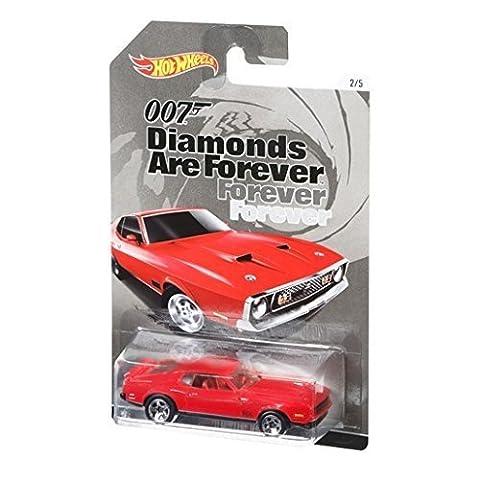 Hot Wheels – James Bond 007 – Les Diamants Sont Eternels – 1971 Mustang Mach 1 – Mini Véhicule Echelle 1:64