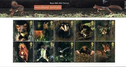 2004 Woodland Animals Stamps in Presentation