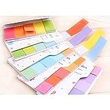 süß Regenbogen Farben Aufkleber Lesezeichen Marker Memo Markierung Anmerkung Büro