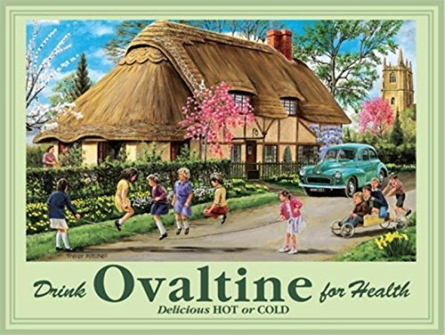 drink-ovaltine-vintage-old-retro-advert-morris-children-playing-in-countryside-next-to-thatched-cott