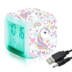 Unicornio Relojes de alarma digitales