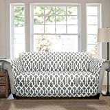 Lush Decor Edward Trellis Furniture Protector, Loveseat, Gray