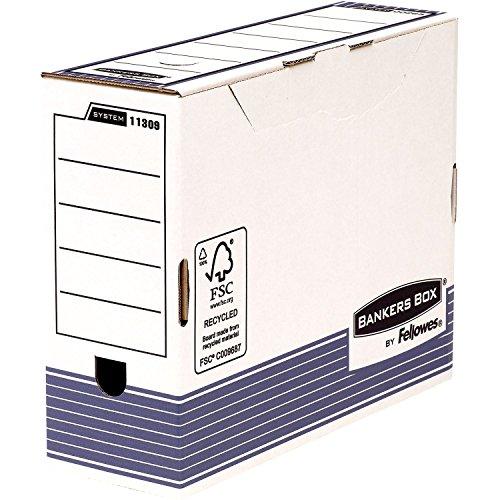 Bankers box 1130902 scatola d'archivio a4+ system, dorso 100 mm, confenzione da 10 pezzi, blu