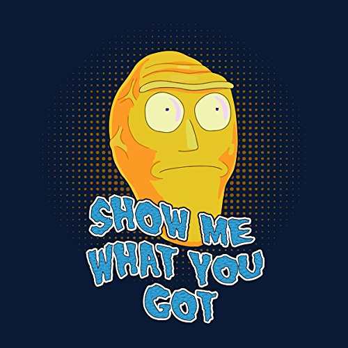 Rick And Morty Cromulons Show Me What You Got Men's Vest Navy Blue