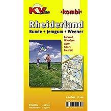 Rheiderland mit Bunde, Jemgum und Weener: 1:12.500 Ortspläne und Freizeitkarte 1:25.000 mit Radrouten und Wanderwegen (KVplan Ostfriesland-Region / http://www.kv-plan.de/Ostfriesland.html)