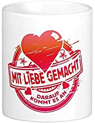 "Taza de cerámica 'alta calidad premium mit Liebe gemacht """