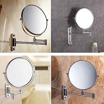 FINETHER magnetischer Kosmetikspiegel Rasierspiegel Schminkspiegelmit Gelenkarm Wandmontage für Badezimmer 360°drehbar doppelseitig
