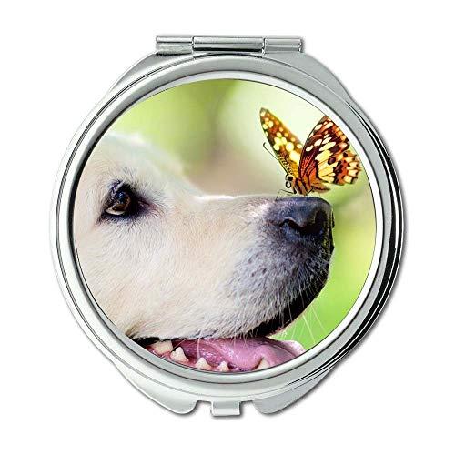 Yanteng Spiegel, Schminkspiegel, Bulldog Puppies Hunde Haustiere, Taschenspiegel, 1 X 2 X...