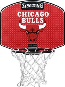 Spalding Miniboard Chicago Bulls Mini panier de basket  + mini ballon diamètre 10 cm