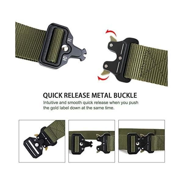 AivaToba Cintura Tattica Uomo Heavy Duty Nylon Cintura Cobra Militare Esercito con Fibbia in Metallo a Sgancio Rapido… 3 spesavip