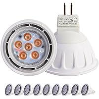 SinceLight Lampadine Riflettori LED Gu5.3 MR16 12V AC/DC 6W,Pari a Lampadine Alogena da 50W,540LM,Luce Bianco Caldo 3000k, Confezione da 9 Faretti