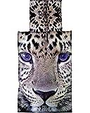 2 tlg. Bettwäsche 135x200 cm aus Microfaser Tiger Leopard Afrika Beige Qualitätsware Premiumdruck