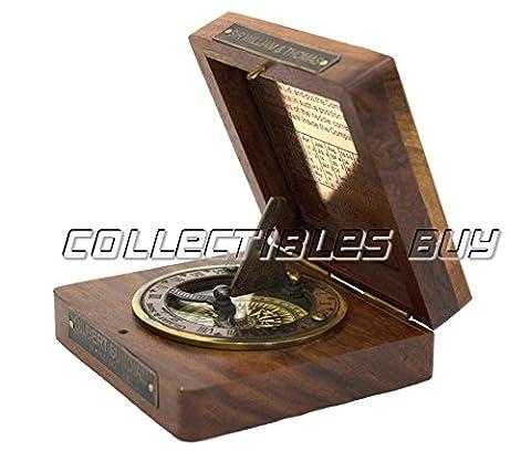 Décoratif Royal Marine Bateau Navigation Boussole Boîte en bois vintage Direction Instrument Maritime de l'article